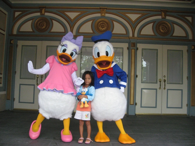 Donald, Daisy and me!!